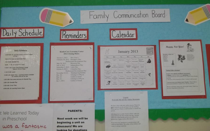 Our center communication board